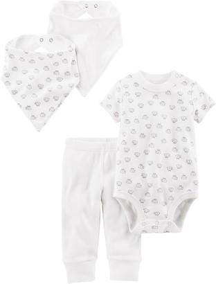 Simple Joys by Carter's Baby 4-Piece Neutral Bodysuit Pant Bib and Cap Set