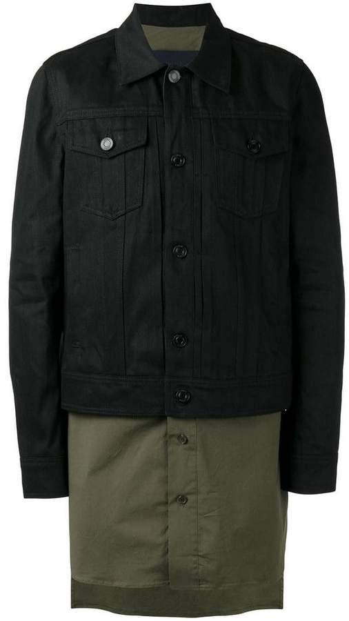 Juun.J colour block overcoat