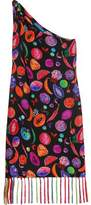Matthew Williamson We Liming One-Shoulder Printed Silk Crepe De Chine Dress