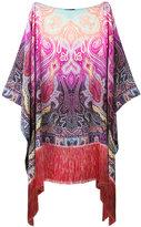 Etro printed fringed tunic - women - Silk/Viscose - One Size