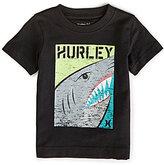 Hurley Little Boys 2T-7 Shark Split Short-Sleeve Tee