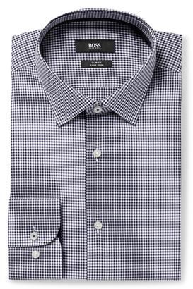 HUGO BOSS Slim-Fit Gingham Cotton-Poplin Shirt