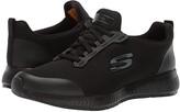 Skechers Squad SR (Black Flat Knit) Women's Shoes