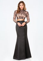 Bebe Kiera Beaded 2-Piece Gown