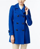 Anne Klein Double-Breasted Peacoat, Only at Macy's