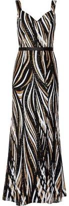 Gina Bacconi Daisha Sequin Maxi Dress