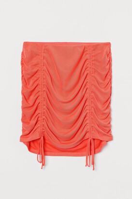 H&M Draped mesh skirt