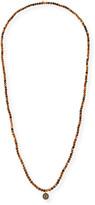 Sydney Evan 14k Diamond Evil Eye Long Beaded Necklace