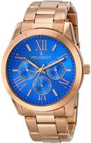 Peugeot Women's 7095BL Analog Display Japanese Quartz Rose Gold Dial Watch