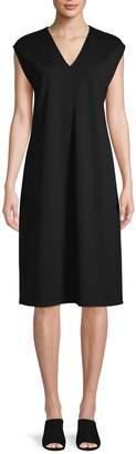 Eileen Fisher V-Neck Sleeveless Dress