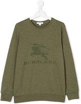 Burberry logo embroidered sweatshirt