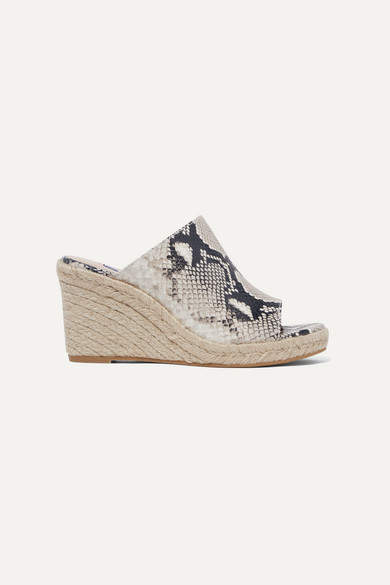 53fe19343cf Marabella Snake-effect Leather Espadrille Wedge Sandals - Snake print
