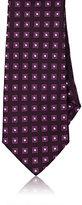 Barneys New York Men's Neat-Squares Silk Jacquard Necktie-DARK PURPLE