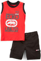 Ecko Unlimited Red Graffiti Rhino Tank & Shorts - Infant & Toddler