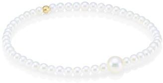 Mizuki 14K Yellow Gold & White Round Akoya Pearl Bracelet