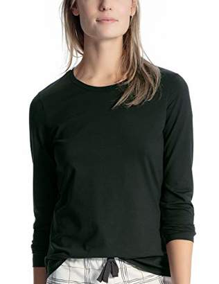 Calida Women's Favourites Trend 4 Pyjama Top, (Dark Pine 639), M