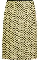 Kéji Printed Silk-Twill Skirt