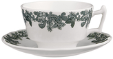 Spode Ruskin House Teacup and Saucer Set, Green / White