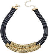 INC International Concepts Gold-Tone Black Braided Nylon Cord Double Row Necklace, Only at Macy's