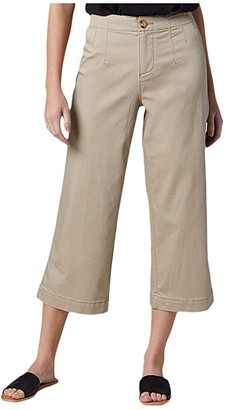 Jag Jeans Alicia Wide Leg Twill Crop (British Khaki) Women's Casual Pants