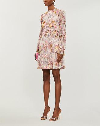 Needle And Thread Needle & Thread x Jasmine Hemsley Harmony floral-print recycled tulle mini dress
