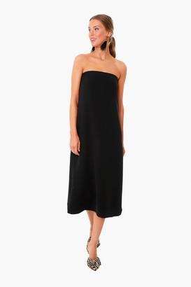 Strapless Noir Crepe Marin Dress