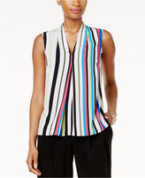 Nine West Striped Pleated Shell