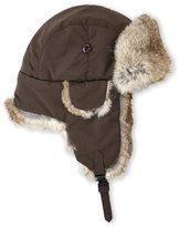 Crown Cap Real Rabbit Fur Lined Bomber Hat