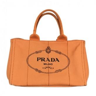 Prada Orange Cloth Handbags