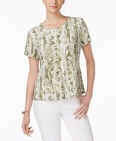 JM Collection Petite Jacquard Print Top, Created for Macy's