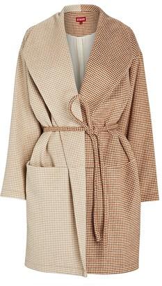 STAUD Chiba Two-Tone Wrap Coat