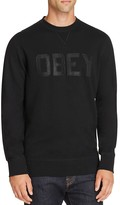 Obey North Point Logo Print Sweatshirt