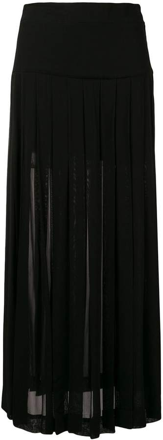 Moschino Pre-Owned pleated midi skirt