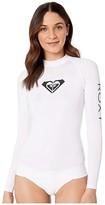 Roxy Whole Hearted Long Sleeve Rashguard (White 2) Women's Swimwear
