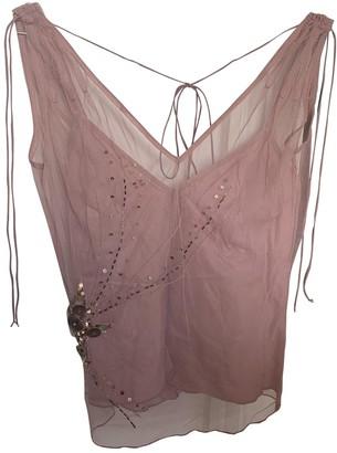 Tara Jarmon Pink Lace Top for Women