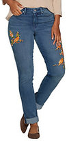 Martha Stewart As Is Canary Embroidered Girlfriend Jeans