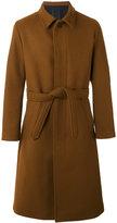 Ami Alexandre Mattiussi long belted coat - men - Polyamide/Wool - 42