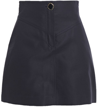 Sandro Button-detailed Cotton-blend Cady Mini Skirt