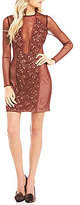 The Jetset Diaries Emerson Deep V-Neck Lace Mini Dress