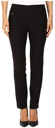 Lisette L Montreal Solid Magical Lycra Ankle Pants (Black) Women's Casual Pants