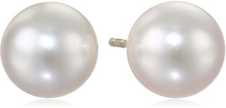 """Tara Pearls Classic Collection"""" 14k Yellow Gold Akoya White Cultured Pearl Stud Earrings 8mm"""
