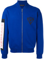 Versace logo patch bomber jacket - men - Cotton/Polyamide/Spandex/Elastane - M