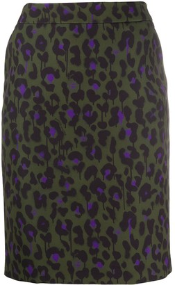 Boutique Moschino Leopard-Print Short Skirt