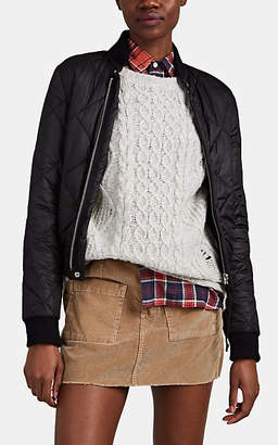 NSF Women's Quilted Tech-Faille Bomber Jacket - Black