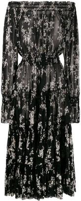 Norma Kamali Delicate Flowers mesh dress