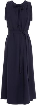Joseph Gathered Silk-crepe Midi Dress