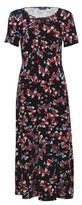 Dorothy Perkins Womens Multi Colour Floral Print Empire Seam Midi Dress