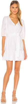 1 STATE Cotton Eyelet Tie Waist Dress