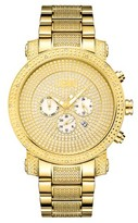 JBW Men's JB-8102-A Victor Japanese Movement Stainless Steel Real Diamond Watch - Gold