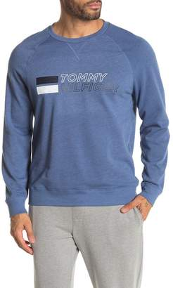 Tommy Hilfiger Logo Print Fleece Lined Lounge Sweatshirt